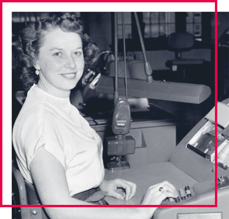 Pictured is the legendary and school's namesake Betty Holberton