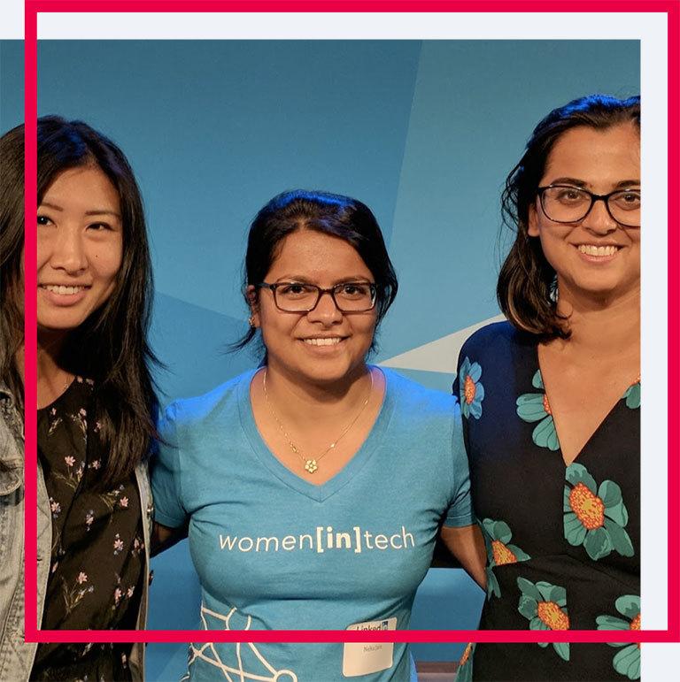 Pictured here is Neha Jain, Software                         Developer at LinkedIn (and Holberton Professional Advisor)
