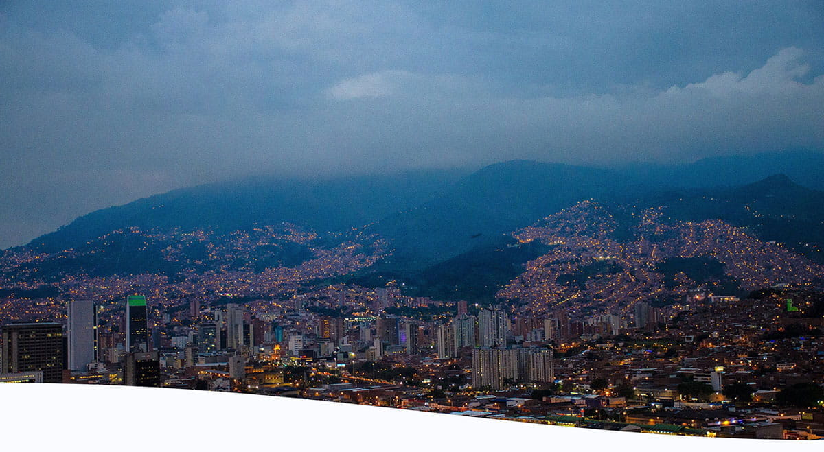 Pictured is the city of Medellín