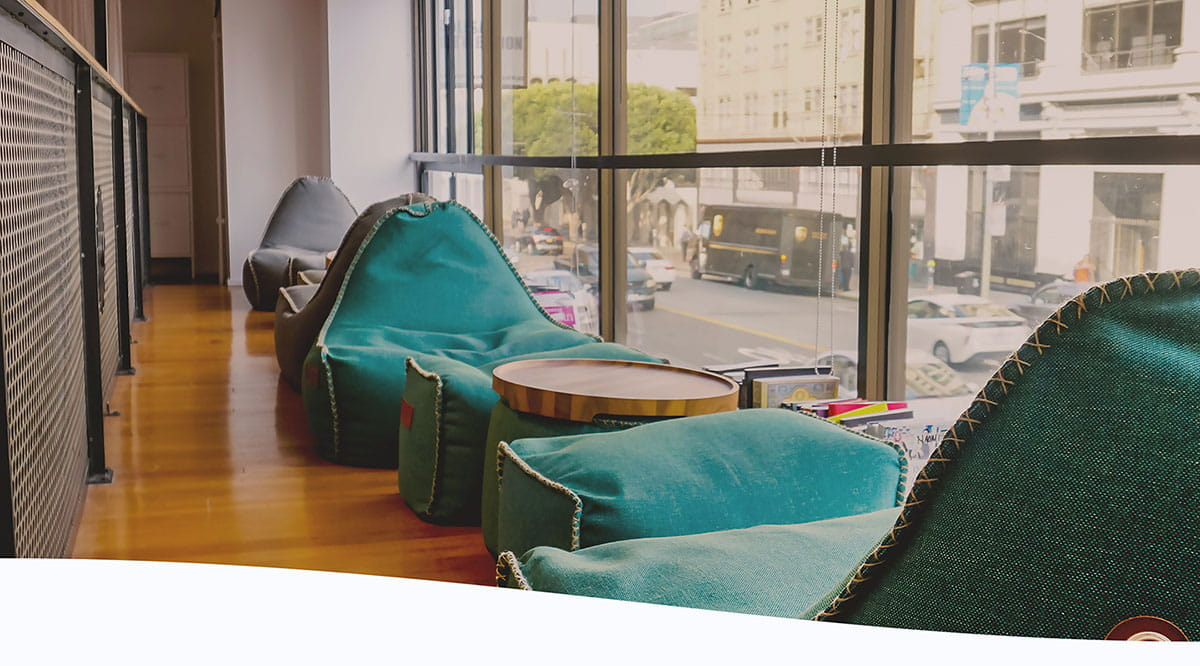 Pictured is the loft in Holberton SF