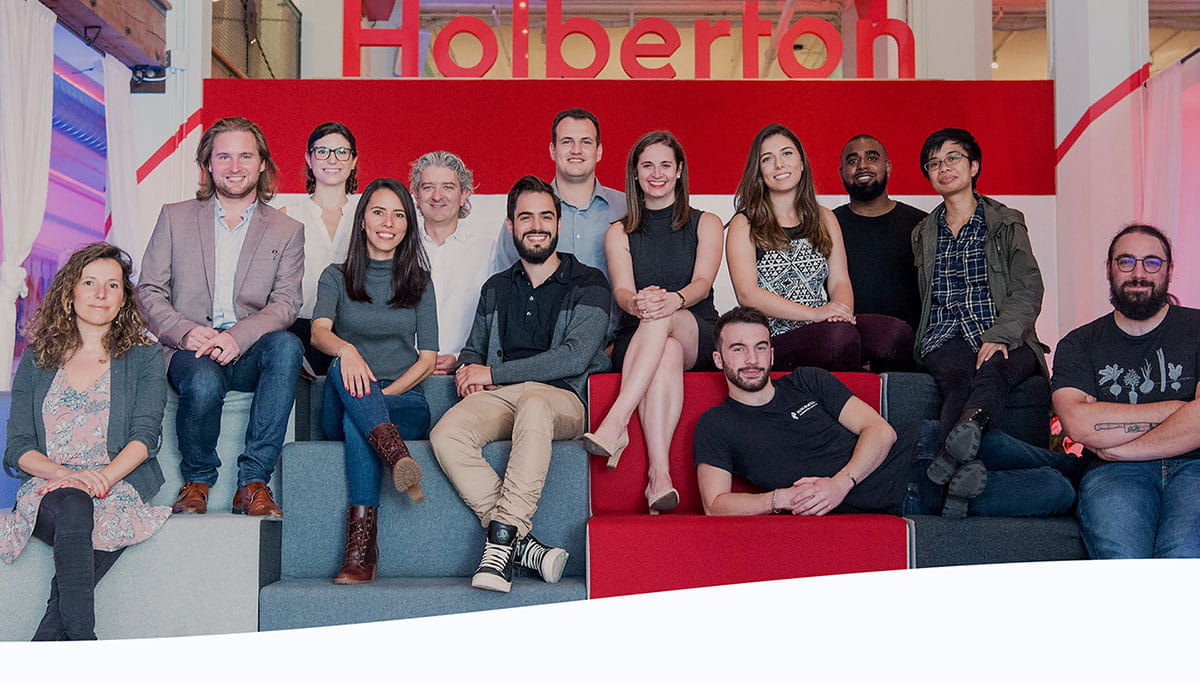 Pictured is part of the Holberton SF team