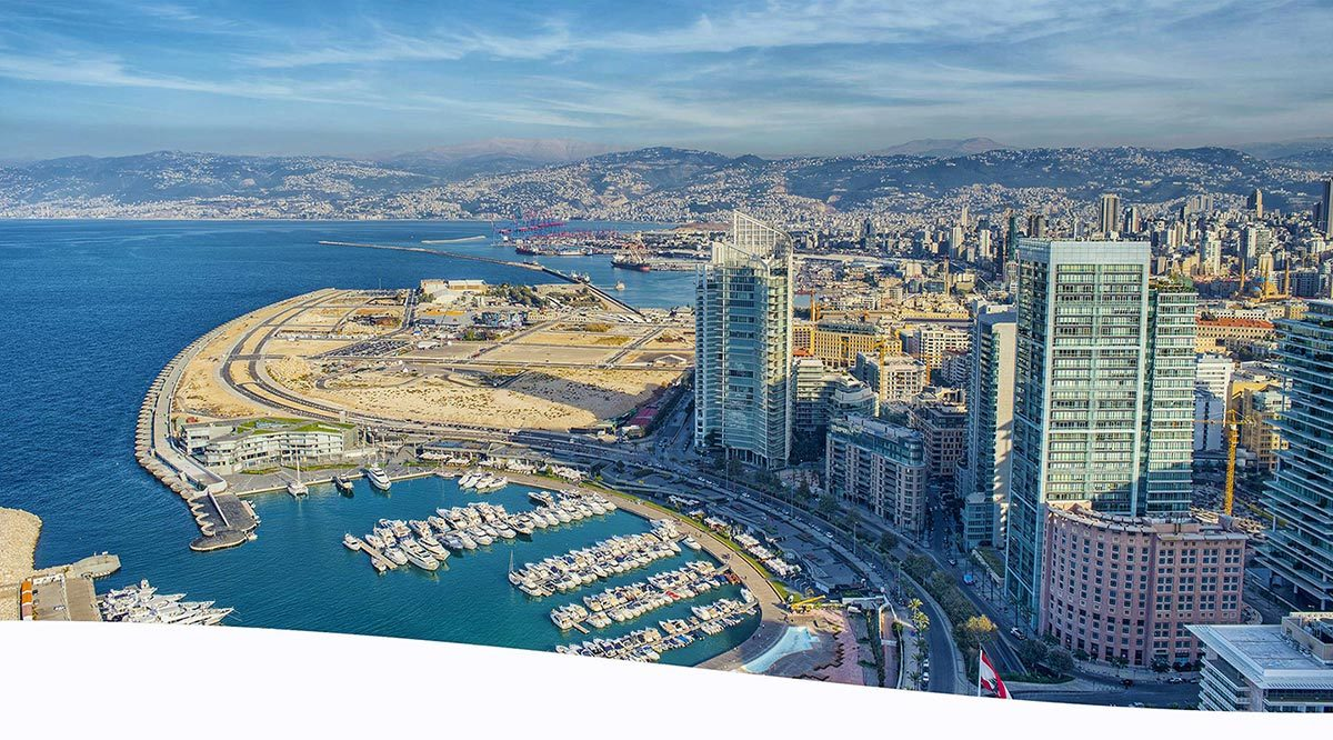 Pictured is the city of Beirut