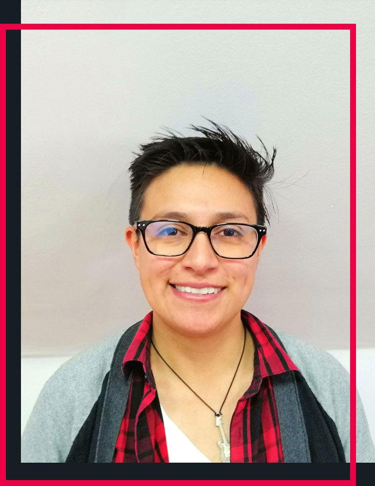Pictured here is Paula Gutierrez Cohort 8 (Bogota Campus)