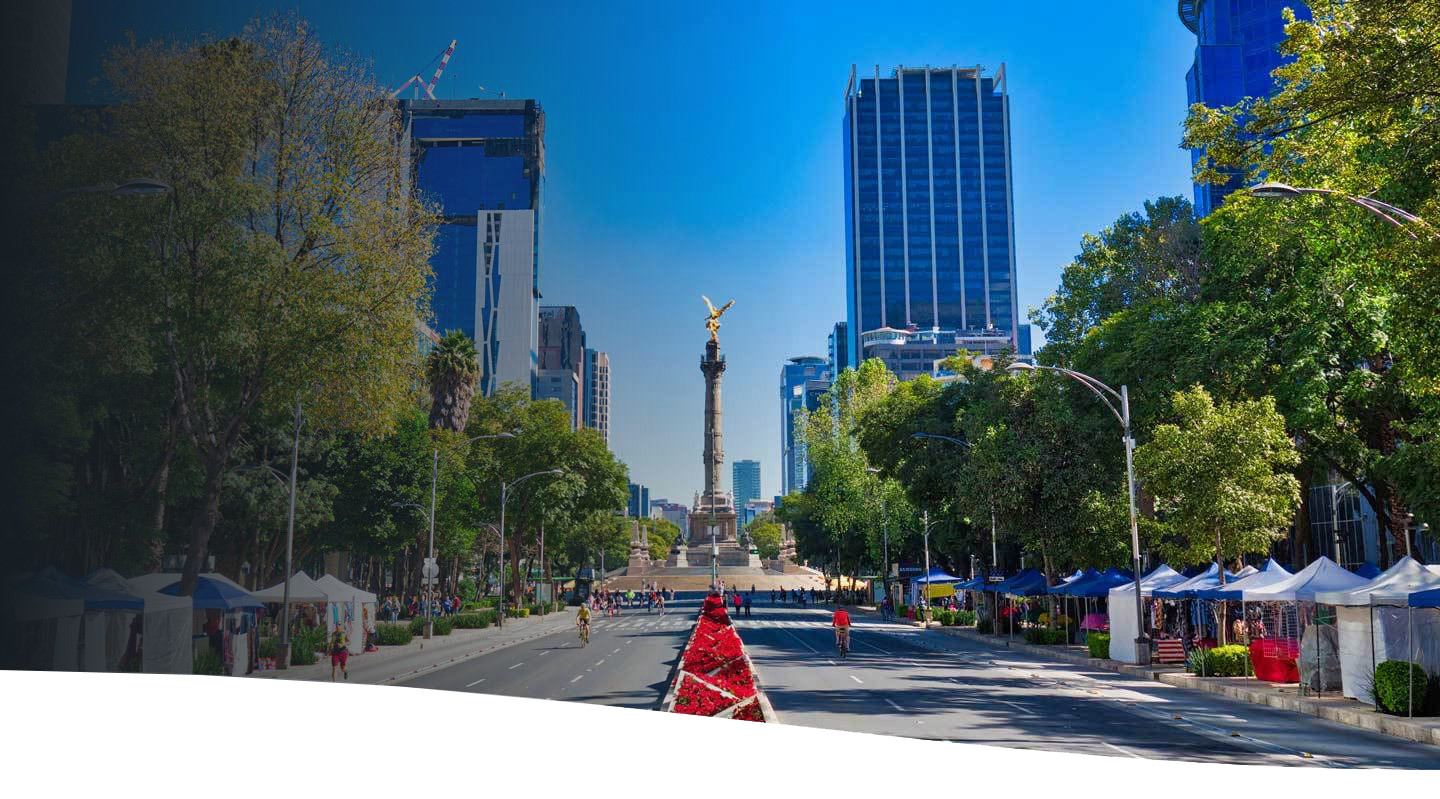 Pictured is Mexico City