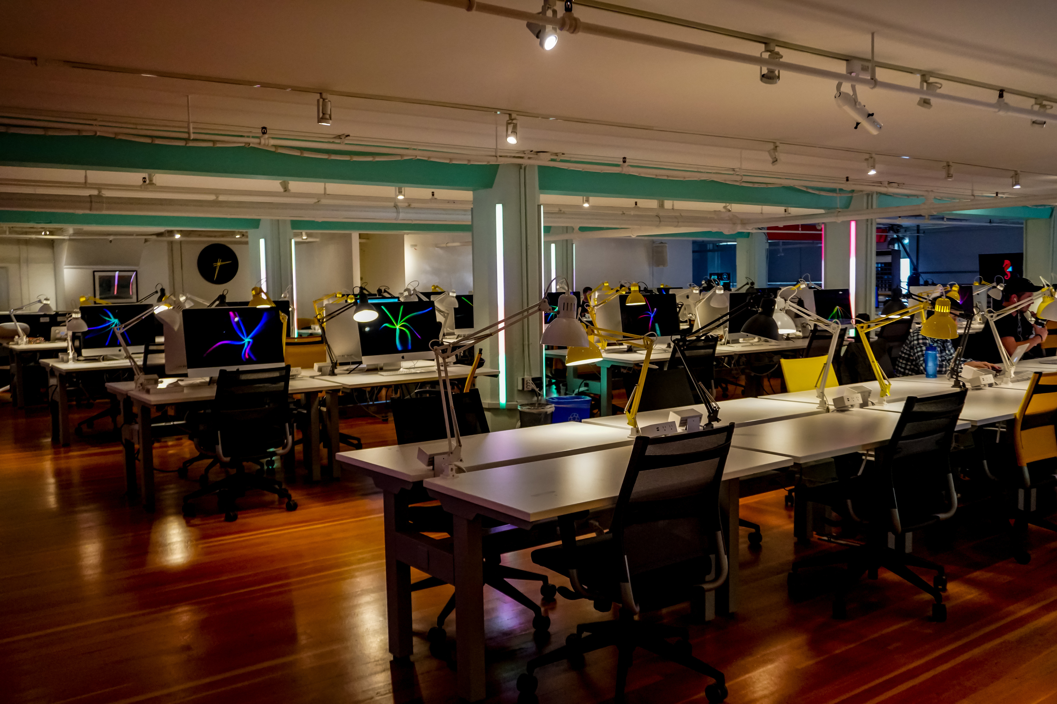 Picture of Holberton computer lab, also known as the matrix